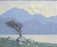 the wind blown tree, killary harbour by paul henry
