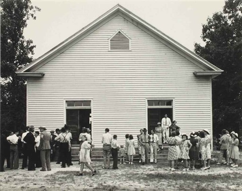 wheeleys church near gordonton person county nc by dorothea lange