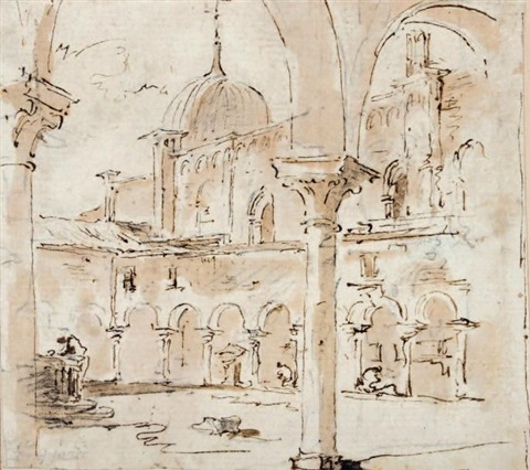 cloître près de san giovanni di paolo by francesco guardi