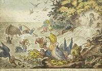 pacific overtures; a great stream from a petty fountain (2 works) by james gillray