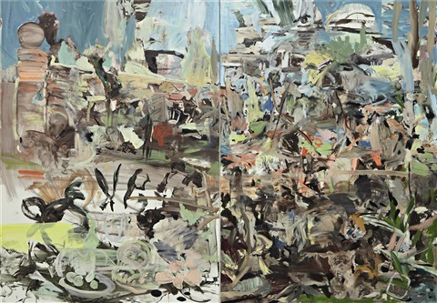 park diptych by cecily brown