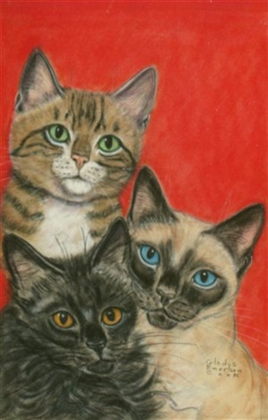 the big book of cats original cover art by gladys emerson cook