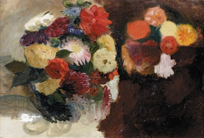 étude de fleurs study by eugène delacroix