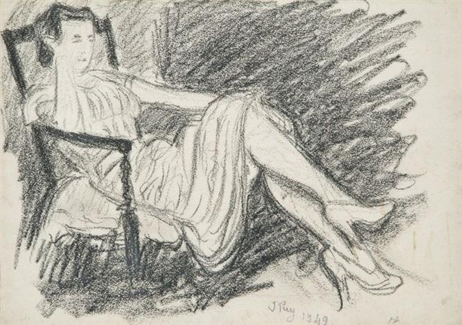 femme dans un fauteuil by jean puy