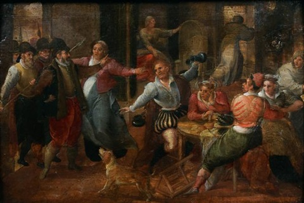 larrestation dans une auberge by david vinckboons