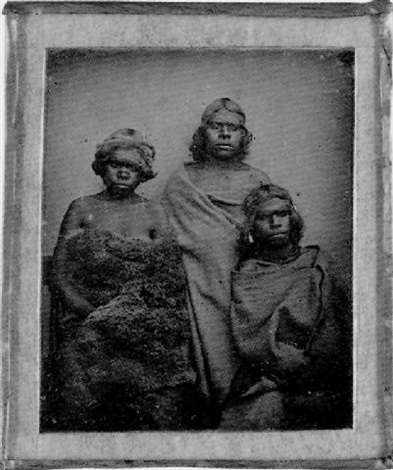 portrait of three aboriginal women by australian school 19