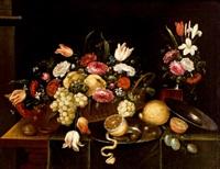 bodegón de frutas y flores by pedro de camprobin