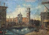 vue de venise by italian school-venetian (19)