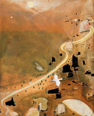 the valley at dusk by brett whiteley