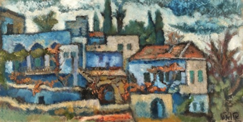 the artists home in safed by arieh allweil