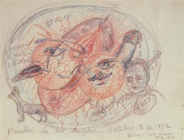 puebla de los angeles by frida kahlo