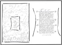 the poet (on 2 sheets) by ilya & emilia kabakov