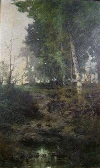 bouleau au bord du ruisseau by c. vasil'kovski