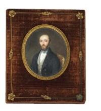 un homme barbu, de trois quart face, au gilet écossais by etienne bouchardy