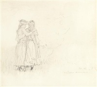 two girls by winslow homer