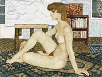 nude in interior by bela czene