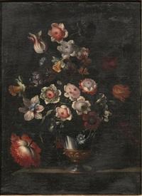 composizioni floreali entro vasi in metallo by italian school-roman (17)