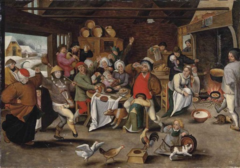 the king drinks by pieter brueghel the younger