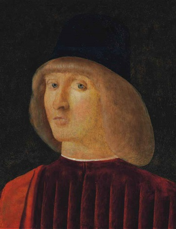 portrait of a man bust length by giovanni bellini
