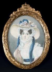 portrait de louise-marie-adélaïde-eugénie d'orléans (1777-1847) by louis-charles labbé