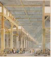 vue intérieure de la halle aux vins by pierre françois léonard fontaine
