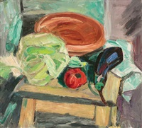 still life with vegetables by max arnold
