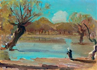 by the river tisza by jános tornyai