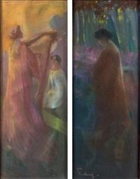la musique et l'automne (pair) by louis fortuney