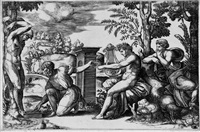 apollon et marsyas (after raphael) by bernardo (dado) daddi