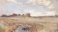 paysage de lande bretonne by adolphe ernest gumery