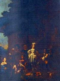 halte des cavaliers by francisque (joseph f.) millet