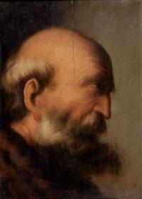 homme barbu de profil by jacques des rousseaux