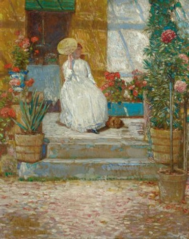 in the sun by childe hassam