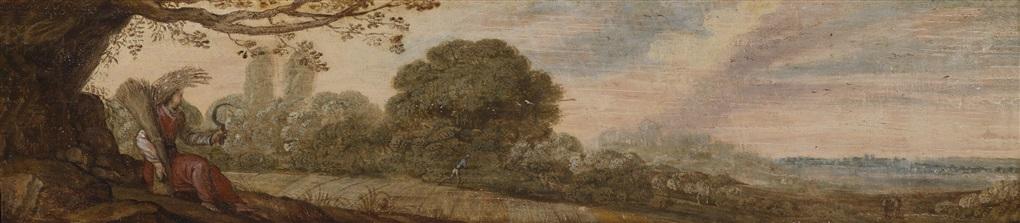 1 landschaft mit der göttin ceres 2 küstenlandschaft mit dem gott poseidon 2 works by flemish school 17