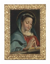 the virgin at prayer by annibale carracci