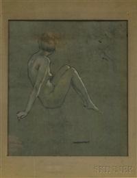 portrait of a seated female nude by warren b. davis