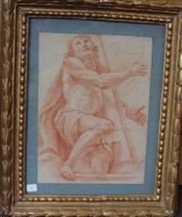 david jouant de la harpe (+ deux grandes figures de femme et rose masculin (study), verso) by pietro faccini