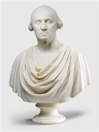 bust of george washington by hiram powers