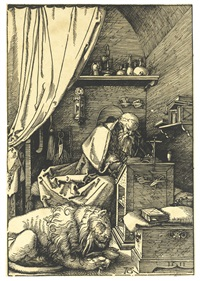 saint jerome in his cell by albrecht dürer