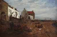 on the beach, buckhaven by robert noble