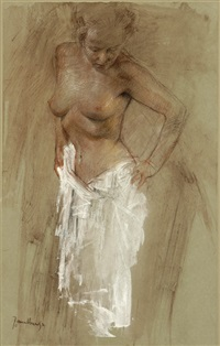 standing nude by jan asselbergs