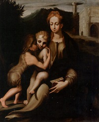 madonna con bambino e san giovannino by michelangelo anselmi