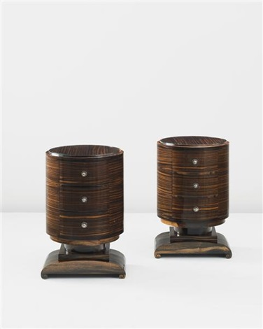 tournicol side tables model no 1009 ar pair by émile jacques ruhlmann