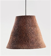 folded paper pendant lamp by michael young