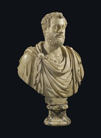 a bust of an emperor, possibly antoninus pius by baccio bandinelli