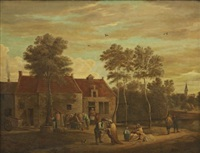 värdshusscen by david teniers the elder