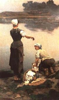 les lavandieres by edouard lemaitre