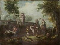 passeggiata in giardino by italian school-venetian (19)