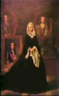 jeune veuve avec le portrait de claude leblanc by adriaen leprieur