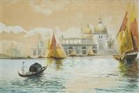 venezia, gondola e vele in laguna nei pressi di santa maria della salute by emanuel hosperger